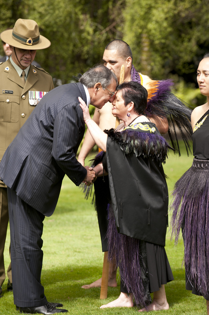 Secretary of Defense Leon Panetta in New Zealand