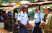 Soldiers from 7 Section conduct regular patrols throughout the local areas of Honiara. Greeting the local Solomon Islanders and working closely with the Participation Police Force (PPF- Solomon Island Police Force) to help maintain security to the community.