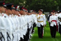 Vice Chief of the Defence Force, Lieutenant General David Hurley, inspects the Australian Defence Force Academy 2010 Graduation Parade