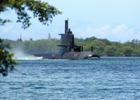 Collins submarine in Hawaii. Image courtesy of Flickr user Marion Doss.