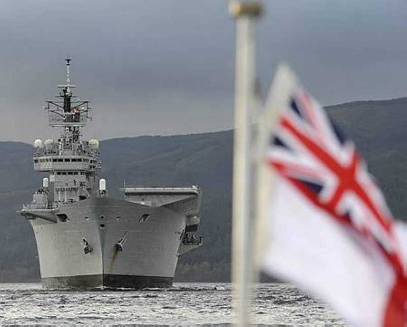 HMS Ark Royal Visits HMNB Clyde for the Final Time
