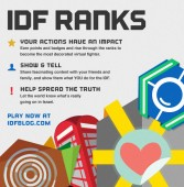 """IDF Ranks is an interactive game, directly implemented into all of the IDF's social platforms allowing YOU to be a virtual part of the IDF. Every action you take — reading, commenting, liking, sharing or even just visiting — will earn you points and help you climb the ladder of IDF Ranks. Specific actions will win you beautiful badges, and one day you might even become the Chief of Staff of IDF Ranks."" Source: IDF blog"