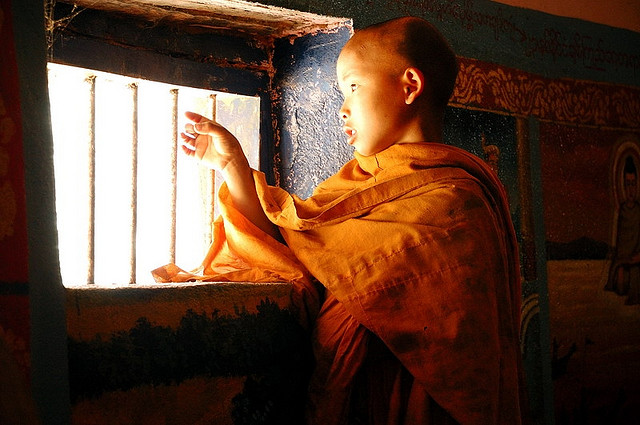A young monk, Myanmar
