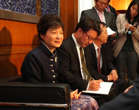 Incoming South Korean President Geun-hue Park