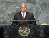 Josaia V. Bainimarama, Prime Minister of the Republic of the Fiji Islands, addresses the general debate of the sixty-fourth session of the General Assembly.