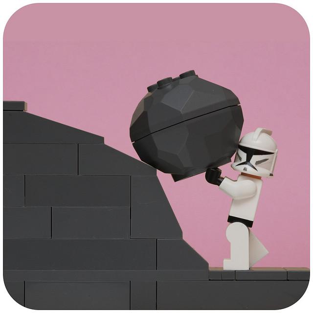 Like pushing a rock up a hill?