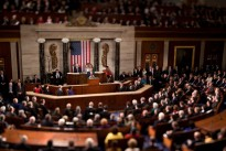 President Barack Obama gives his State of the Union address to a joint session of Congress in the House Chamber of the U.S. Capitol, Jan. 27, 2010. (Photo was shot with a tilt-shift lens) (Official White House Photo by Chuck Kennedy)
