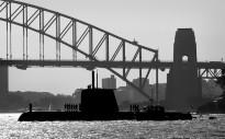 HMAS Collins arrives in Sydney Harbour.