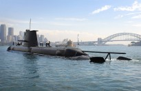 May 29, 2008: Collins Class submarine HMAS WALLER in Sydney.