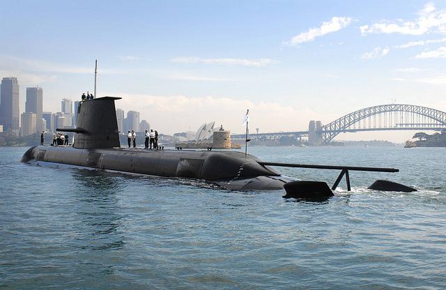 May 29, 2008: Collins Class submarine HMAS WALLER in Sydney.