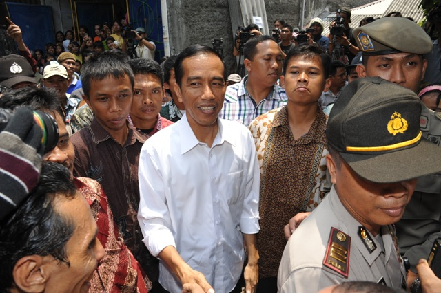 Jokowi, amongst the people