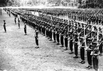Australian soldiers on parade in New Guinea, ca. 1944