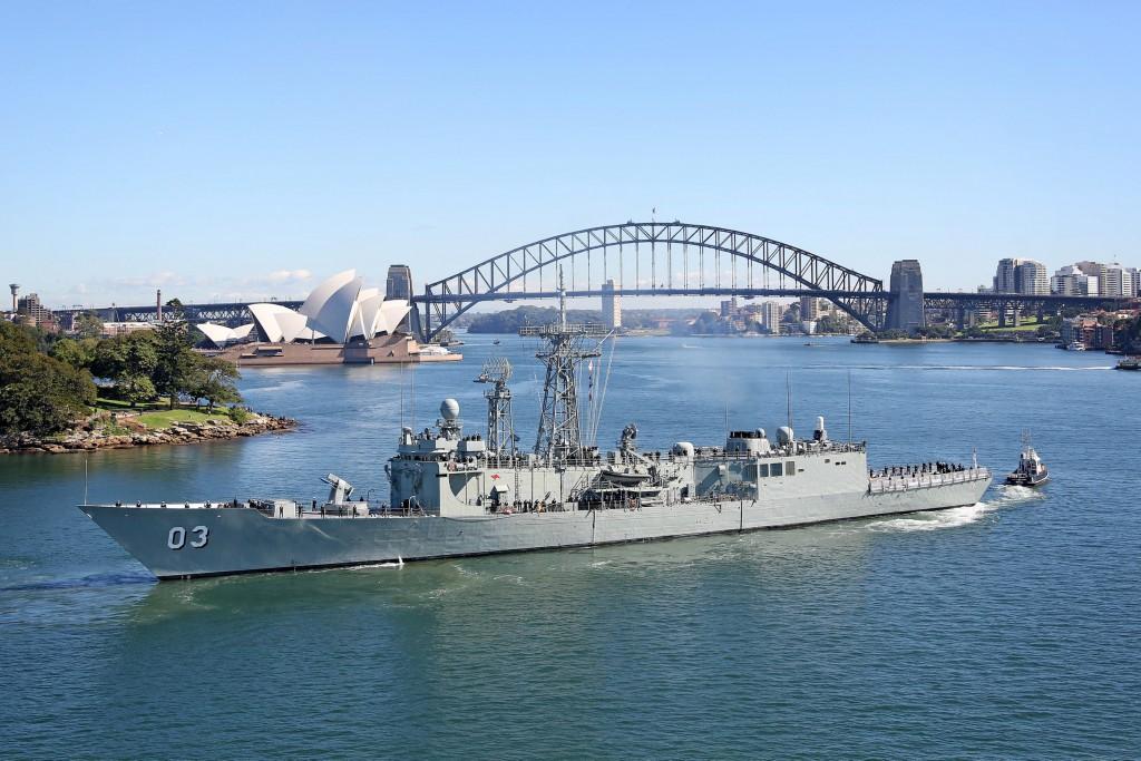 HMAS Sydney, April 2013
