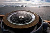 Ship compass in Antarctica