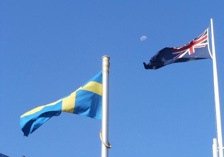 Swedish and Australian flags
