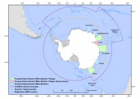 East Antarctic map for MPA