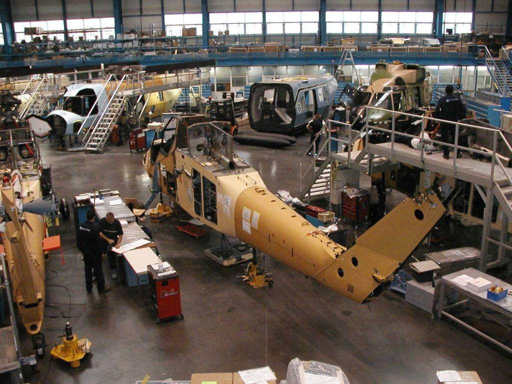 ARH2 on Assembly Line February 2004, Marignane France
