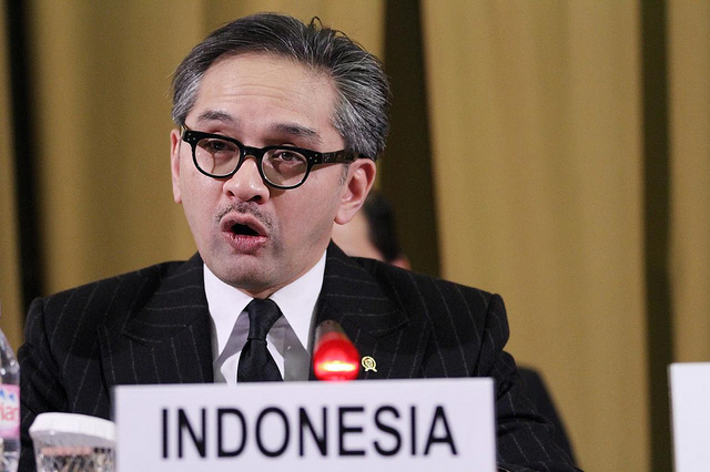 Marty Natalegawa, Indonesian Minister for Foreign Affairs.