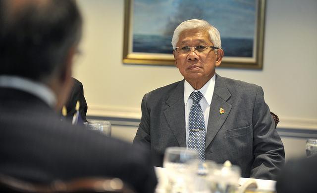 Philippines' Secretary of National Defense Voltaire Gazmin