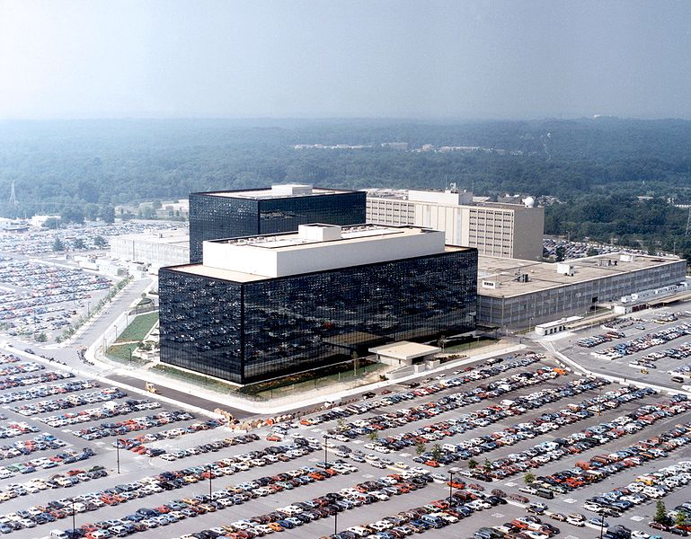 Headquarters of the National Security Agency at Fort Meade, Maryland.