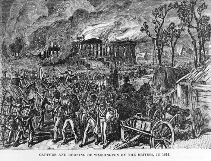 Capture and burning of Washington by the British, in 1814.