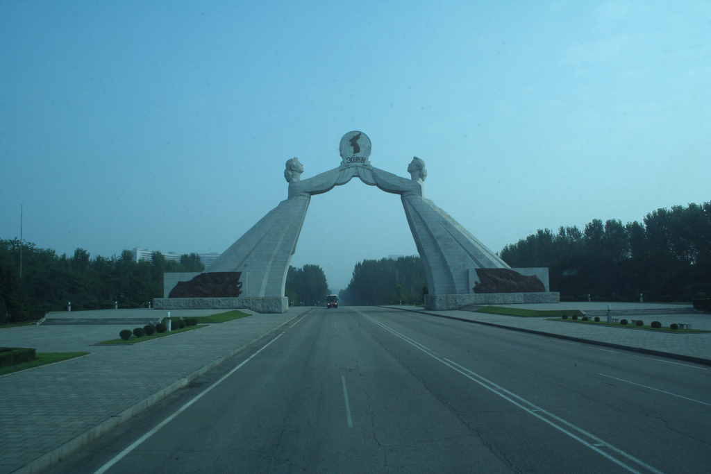 Reunification Highway, south of Pyongyang in North Korea