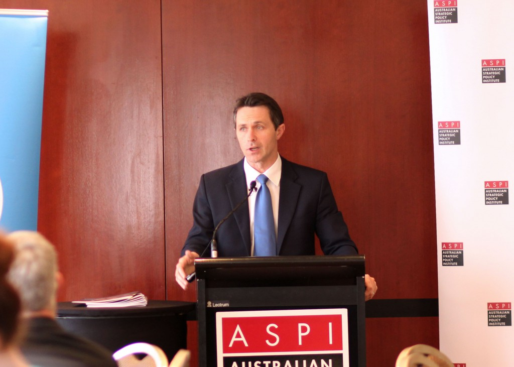 Home Affairs Minister Jason Clare at the ASPI-HP lunchtime seminar in Sydney, 3 July 2013