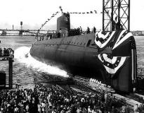 The Nautilus being launched.