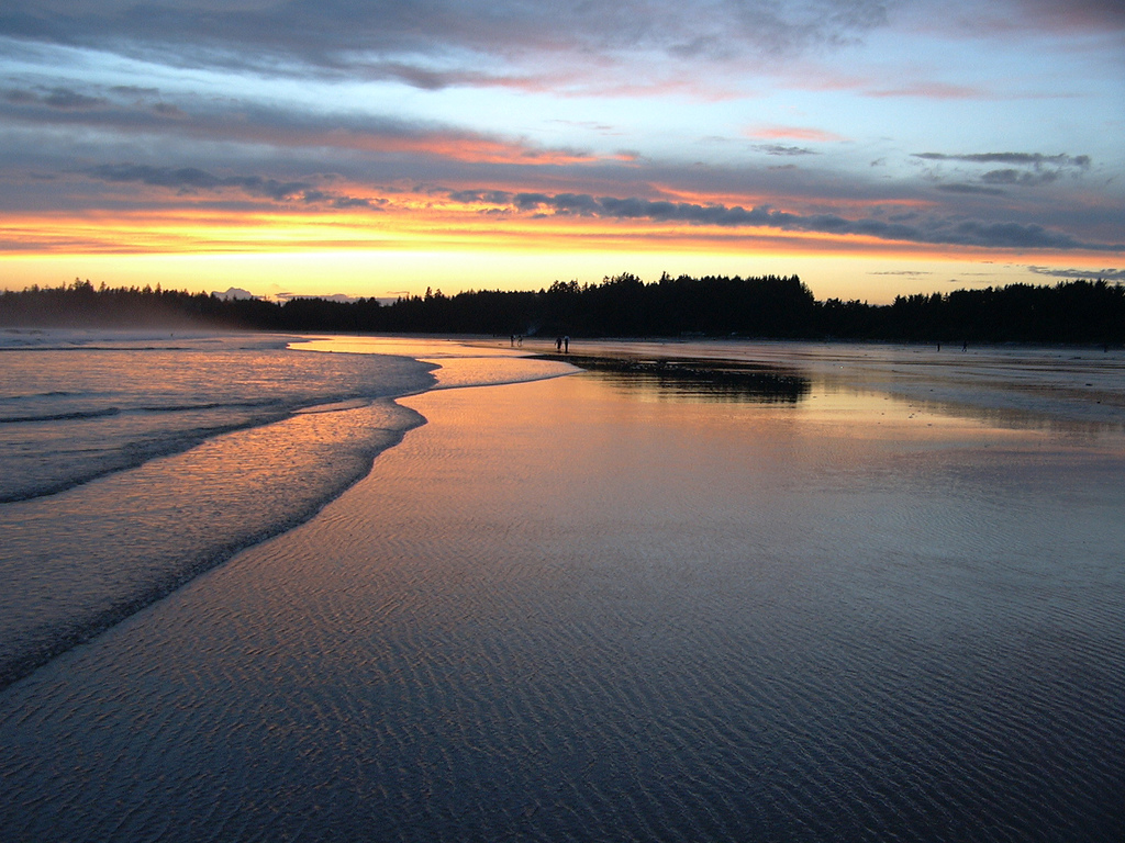 The Pacific washes up on Canada's shores at Vancouver Island, British Columbia.