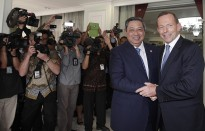 President SBY meeting with then Opposition Leader Tony Abbott in October 2012, Jakarta.