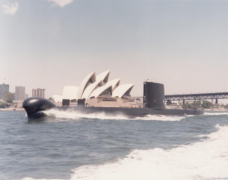 HMAS Oxley, an Oberon class submarine - predecessor to the Collins class.