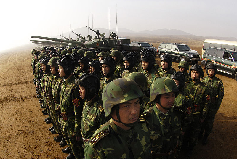 Soldiers with the People's Liberation Army at Shenyang training base in China, March 24, 2007