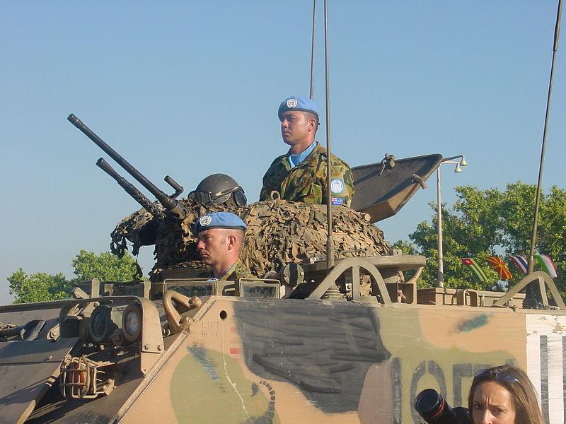 Australian peacekeepers in East Timor, 2002.