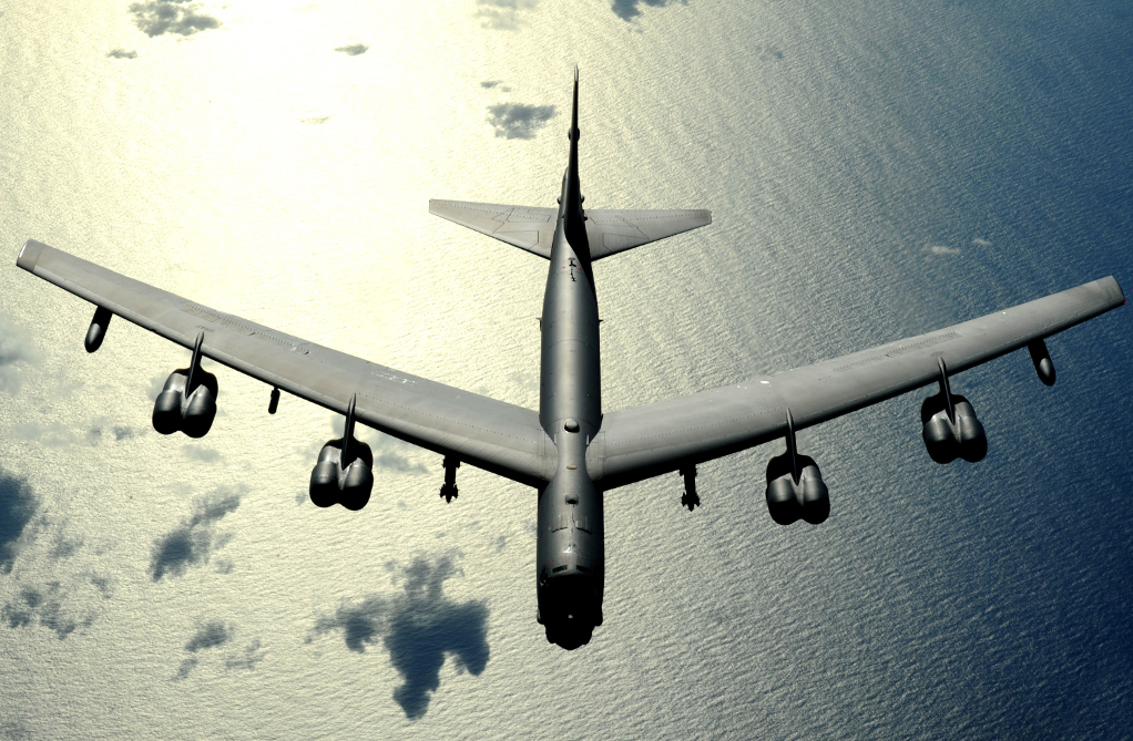 A B-52 Stratofortress flies a routine mission Nov. 12 over the Pacific Ocean.