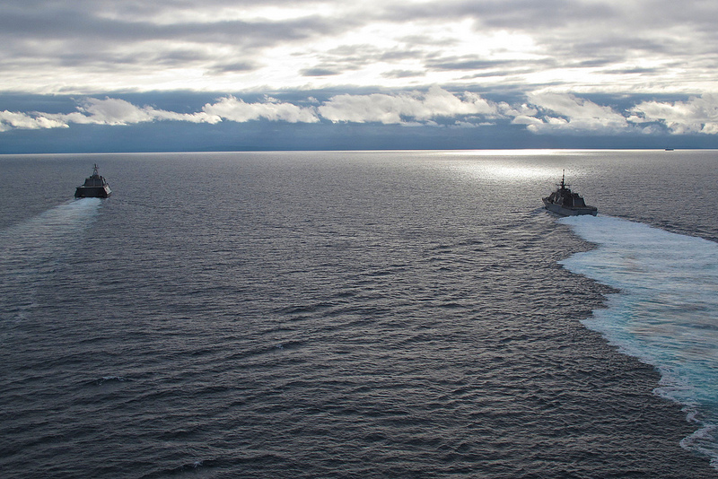 2 May 2012 - First of class ships USS Freedom (LCS 1) and USS Independence (LCS 2).