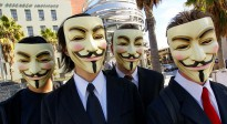 Individuals appearing in public as Anonymous, wearing Guy Fawkes masks