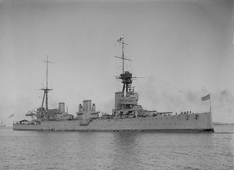 Australian battlecruiser HMAS Australia in 1914