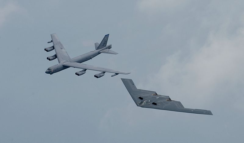 B-52 and B-2 of the US Air Force