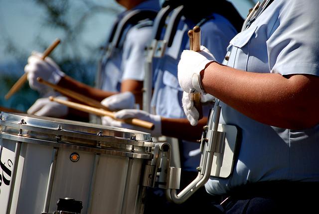RAAF cadet drums