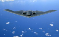 The B-2, from the 509th Bomb Wing at Whiteman Air Force Base, Mo