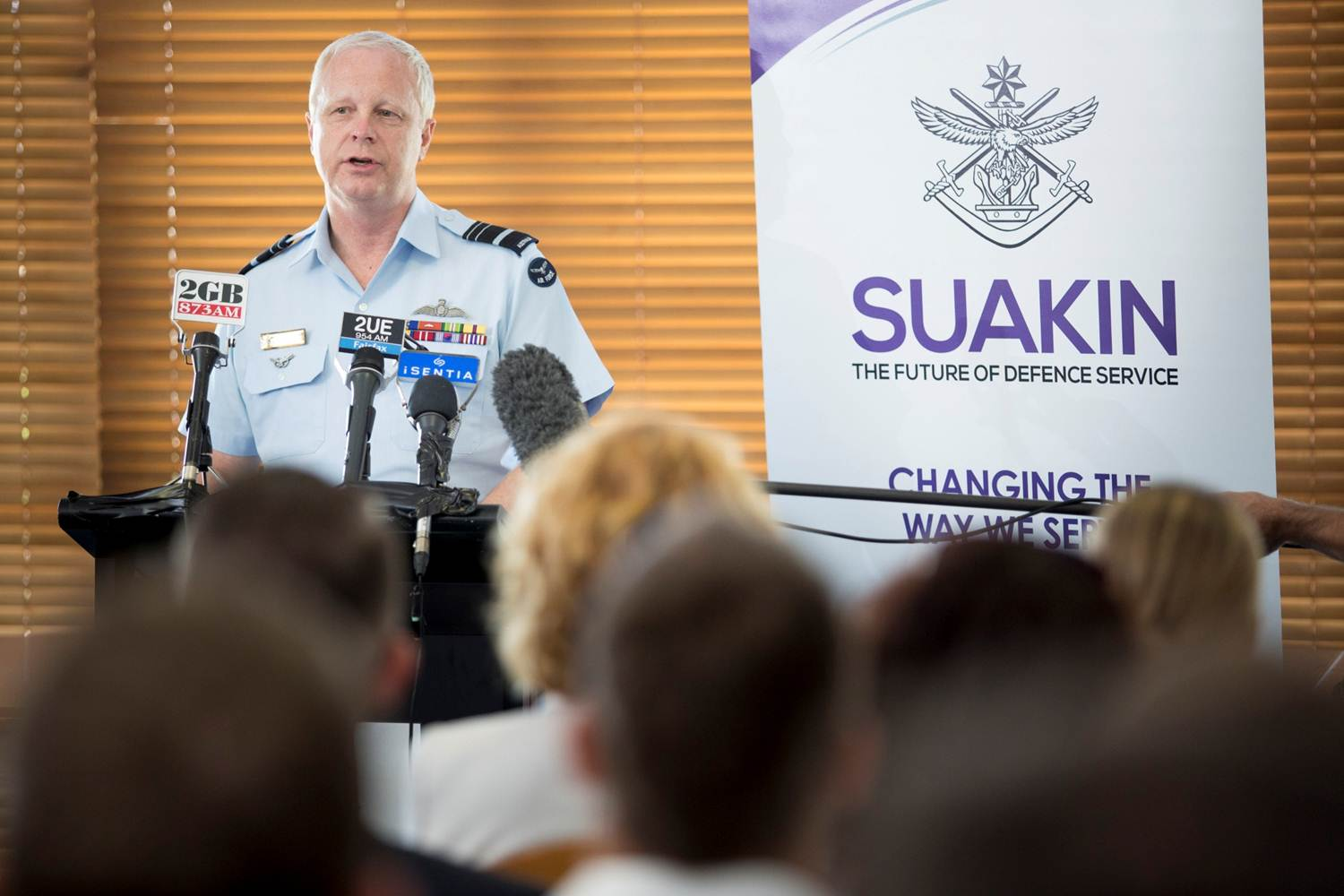 Assistant Minister for Defence, The Honourable Stuart Robert MP, joined Acting Chief of the Defence Force, Air Marshal Mark Binskin AO at HMAS Harman, Canberra to launch Project Suakin, a workforce reform that aims to further support ADF members and enhance the way they serve.   Project Suakin intends to introduce a range of full-time, part-time and casual service categories to support and retain ADF members through long-term, rewarding military careers by providing them with more options to seek as their circumstances change.