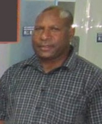 Joint Forces Commander, Colonel Gilbert Toropo, attending an informal farewell at Jacksons Airport, Port Moresby, in December 2012 for the second pair of PNGDF UN military observers to deploy to peacekeeping missions in Africa