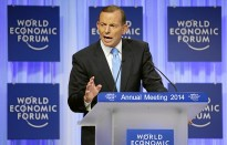 Prime Minister Tony Abbott outlining Australia's vision for the G20, which will focus on trade not talk, at the World Economic Forum in Davos