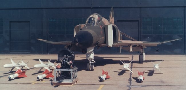 An early F4-E Phantom in 1967, showing its gun + missile armament - rectifying the biggest shortcoming of previous models