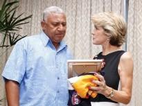 PM Bainimarama meets Australian Foreign Minister, Julie Bishop-2014