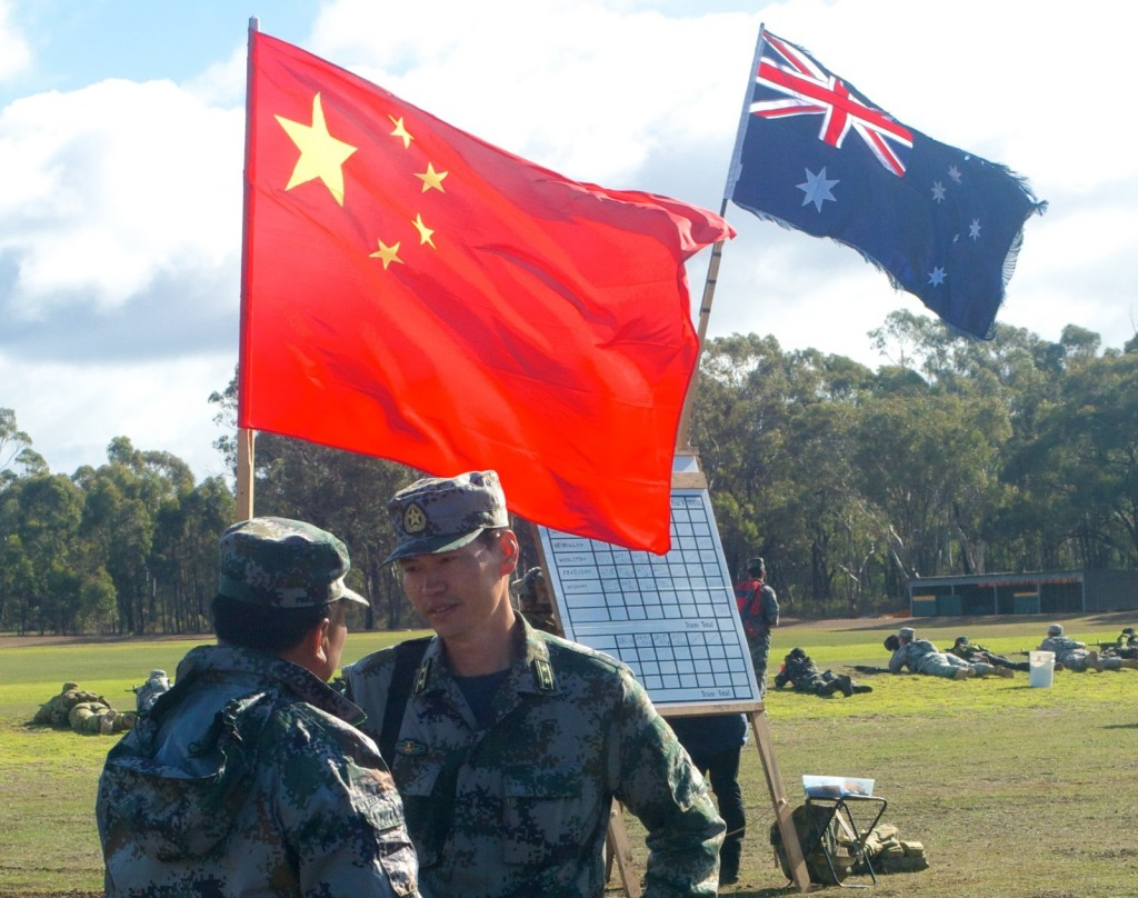 Team flags fly at the International Service Rifle Championship at the Australian Army Skill at Arms Meeting (AASAM) held at Puckapunyal Military Range in September 2013