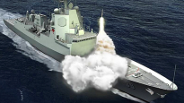 A computer generated image of the Air Warfare Destroyer (AWD). The project will deliver three world-class ships and their support systems to the Royal Australian Navy ( RAN).