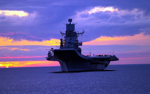 The INS Vikramaditya, a modified Kiev-class carrier, entered into service with the Indian Navy in 2013.