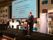ASPI's executive director Peter Jennings opening ASPI International Conference 'The Submarine Choice'.