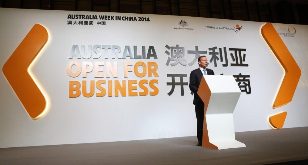 Prime Minister Tony Abbott in China